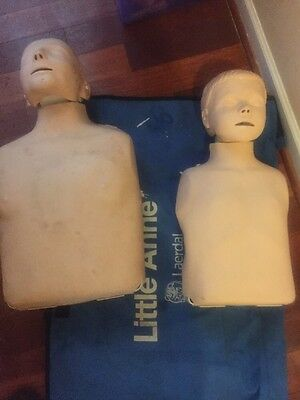 (2) Laerdal Little Anne CPR Manikin with (1) carrying case