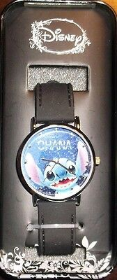Disney Lilo And Stitch Ohana Rubber Strap Watch Collectible Tin Case New Nib