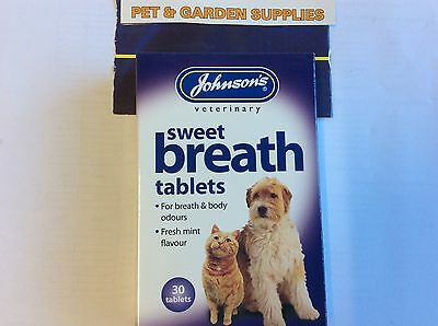 Johnson's Sweet Breath 30 Tablets-Dog&Cat Fresh Breath Tablets-(New Packaging)