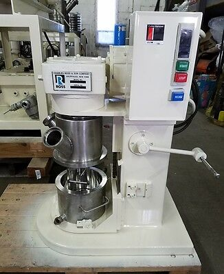 1 Quart Ross Jacketed, Vacuum Planetary Mixer, S/S