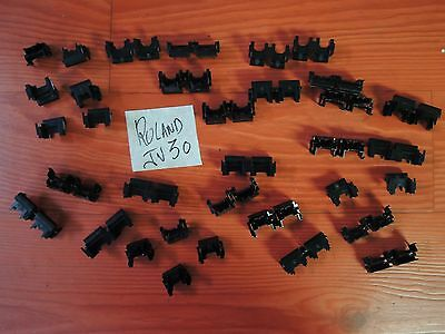 90' Keyboard PARTS ROLAND JV80 JV U séries Command KNOB FULL SET VG condition