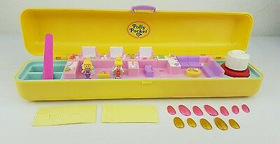 Vintage Polly Pocket Pretty Nails Playset almost  complete RARE excellent cond