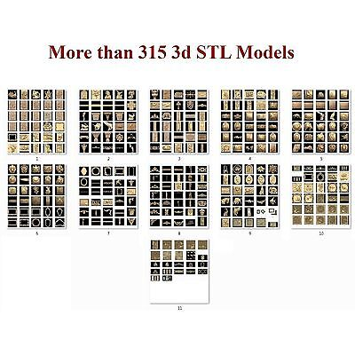 More than 315 3d STL Models  for CNC artcam 3d printer aspire