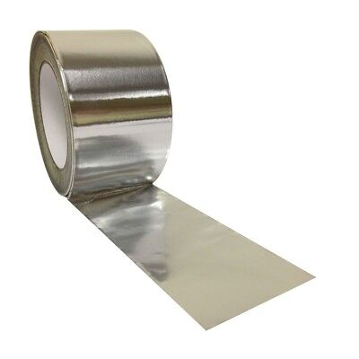Aluminium Foil Tape Rolls 72mm X 45m Heat Insulation Duct Self Adhesive Silver