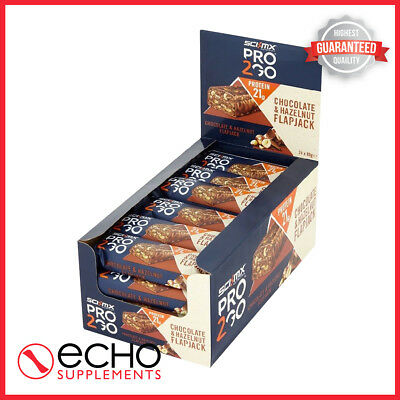 Sci-MX Pro 2 Go Flapjacks (24x80g) - Delicious, High Protein - FREE Delivery!