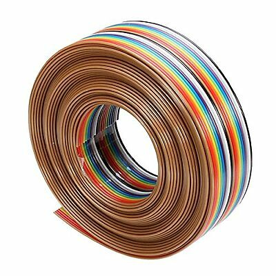 5M 1.27mm 20P DuPont Cable Rainbow Flat Line Support Wire
