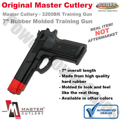 "7"" Rubber Training Gun, Black & Red, Police Dummy, Non Firing, Real Look & Feel"