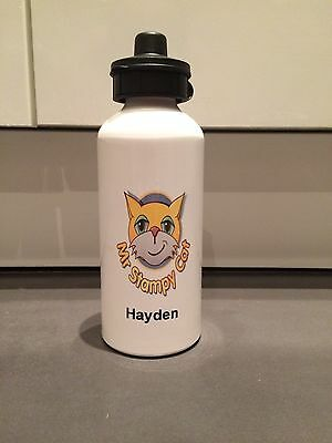 Personalised 600ml Mr Stampy Cat Drinks/Sports/Water Bottle -FREE POSTAGE