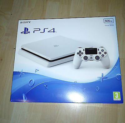 Sony Playstation 4 Ps4 500Gb Slim Console New & Sealed White (Latest Model)