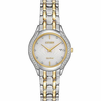 Citizen Eco-Drive Women's GA1064-56A Diamond Accents Two Tone 27mmWatch