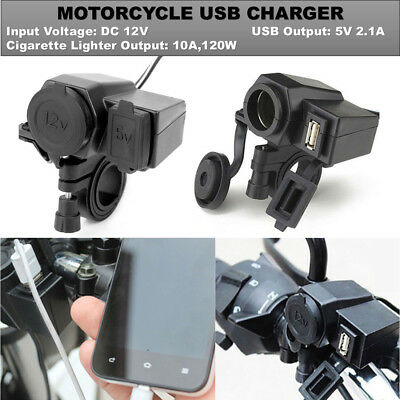 Black Phone USB Charger For Harley Davidson Sportster Softail Dyna Touring