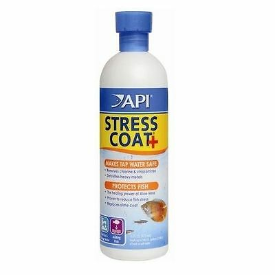 API Stress Coat 473ml Tap Safe Water Conditioner Dechlorinator Fish Tank
