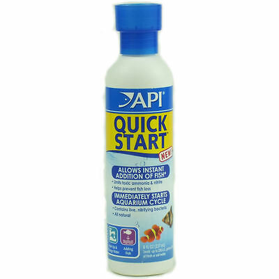 API Quick Start 237ml Fish Water Treatment Filter Ammonia Bacteria Aquarium
