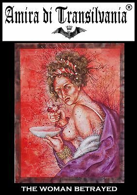 gift for san valentine love passion painting red woman regalo san valentino arte
