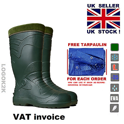 Thermal LIGHTWEIGHT EVA MATERIAL Wellies Wellington Boots Wellingtons