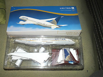 United 787-8 Boeing 200 Scale Die Cast Airplane Lysia Marcomm Jet Model Airline