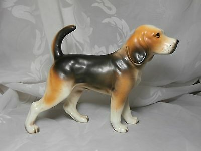 "Vintage Nanco Porcelain Dog Beagle Figurine Japan 5"" Tall"