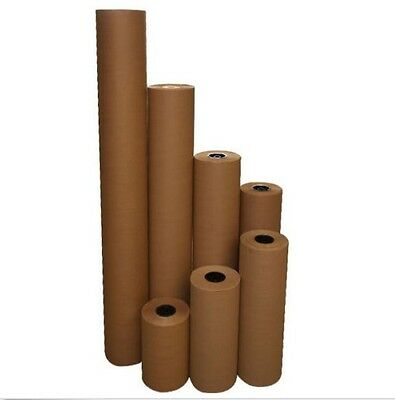 "6 Rolls 24"" 40 lbs 900' Brown Kraft Paper Roll Shipping Wrapping Cushioning Void"