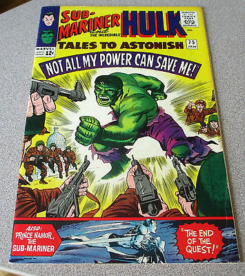 Tales To Astonish #75 Hulk & Giant-Man 8.0 Herb Trimpe