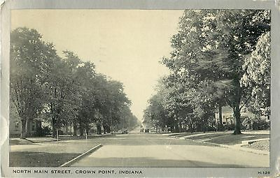 A Quiet Day On North Main Street, Crown Point IN Indiana 1942