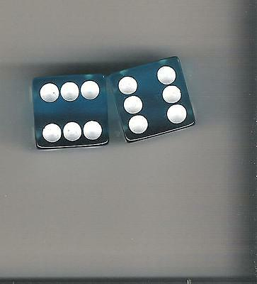 Monopoly Game Pieces -replacement dice die - clear blue - lot of 2