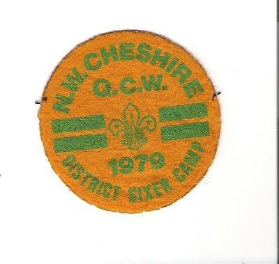 46) Scouts United Kingdom - N.W. Cheshire - Q.C.W. - 1979 District Sixer Camp