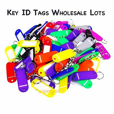 Key ID Tags Labels Keychain Split Key Ring Name Tag Colors Wholesale Lots USA