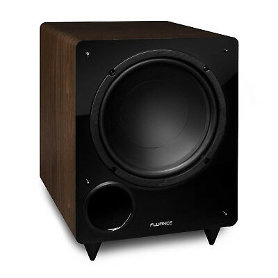 Fluance DB10W 10-inch Low Frequency Powered Subwoofer (Natural Walnut)