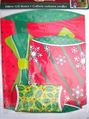 6 CHRISTMAS PILLOW POP-UP GIFT BOXES ~ Assorted Sizes & Designs ~ #1