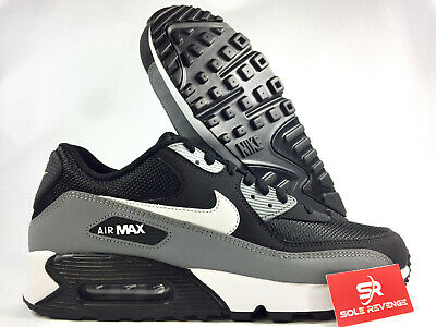 save off 41eb3 8975f New Men s Nike Air Max 90 Essential Running Shoes Black Gray 537384-053 c1