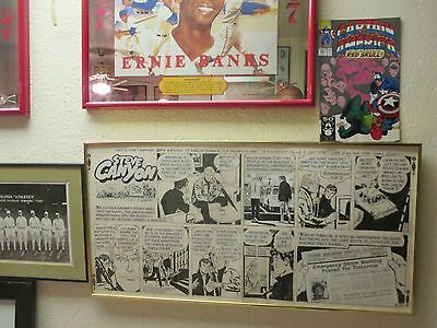 Signed MILTON CANIFF Orig Framed 1-of-a-Kind SHEL DORF Comic Con Steve Canyon