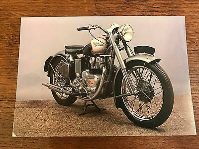 Vintage Royal Enfield 1951 500 Twin National Motorcycle Museum Postcard