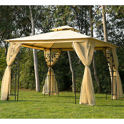 New 3m x 3m Patio Garden Metal Gazebo Marquee Party Tent Canopy Shelter Pavilion