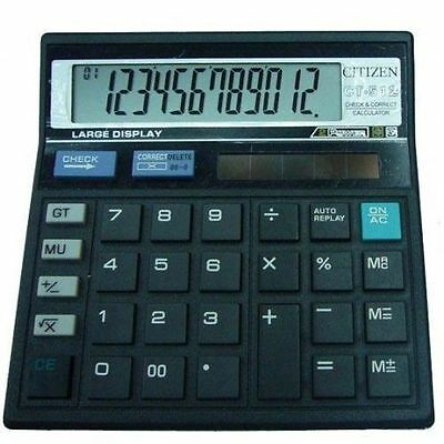 New Citizen CT-512 Check And Correct Calculator For Home And Office | Free Ship