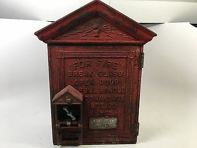 Old Antique New York Gamewell Fire Call Box 1800s