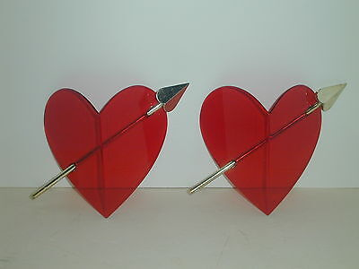 2 Valentine Hearts With Arrows  Came From Store Display Vintage