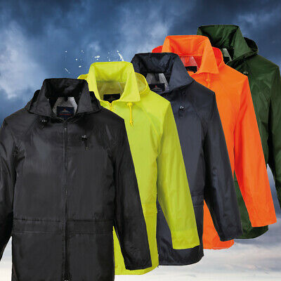 Rain Jacket Waterproof Weatherproof Outdoor Coat with Hood S-5XL Portwest US440