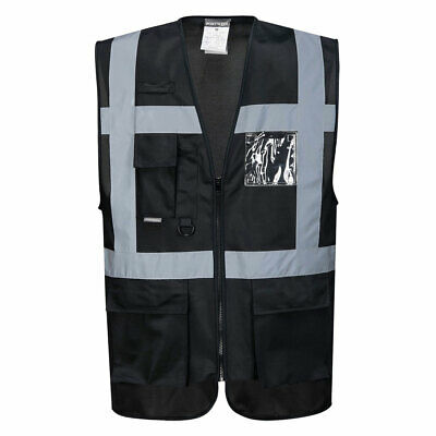 Portwest UF476 Iona Executive Vest for extra visibility in Black, Navy & Blue