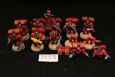 Warhammer Space Marine Blood Angels Assault Squad Well Painted