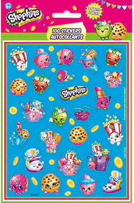 4 Sheets Shopkins Stickers Party favor