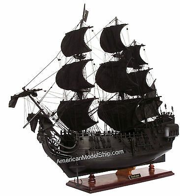 """Black Pearl Caribbean Pirate Tall Ship 37"""" - Handcrafted Wooden Model NEW"""