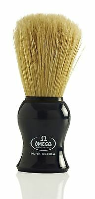 Omega 10065 Pure Bristle Shaving Brush - Blue