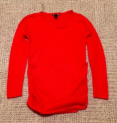Maternity Sweater H&M Red Open Texture + Camisole Old Navy S M Valentine's EUC