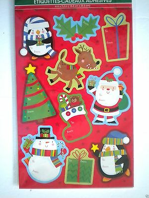 Pkg. Of 100 Luxury Self-Stick Christmas Gift Tags ~ #1