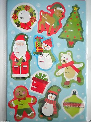 Pkg. Of 100 Luxury Self-Stick Christmas Gift Tags ~ #3