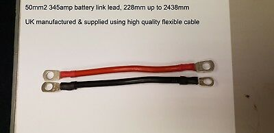 75MM2 485 AMP BATTERY POWER EARTH STRAP STARTER LEISURE LINK SOLAR CABLE LEAD