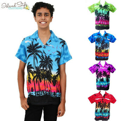 Palms Range Mens Hawaiian Shirts Casual Fancy Dress