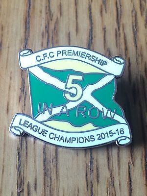 CFC league champions 5 in a row pin badge free posting UK.