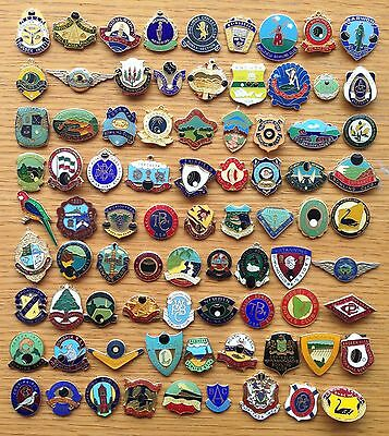 Bowling Club Badge Collection 81 Items Rare Vintage No Clasps (D10)