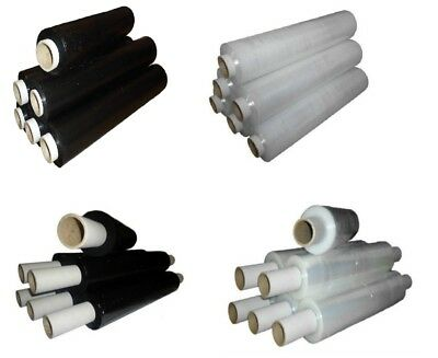 Pallet Stretch Shrink Wrap Extended Flush Core Clear/Black 400 mm x 150 m approx